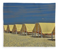 Cape May Cabanas 6 Fleece Blanket