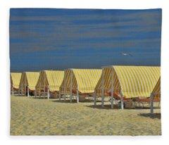 Cape May Cabanas 6 Fleece Blanket
