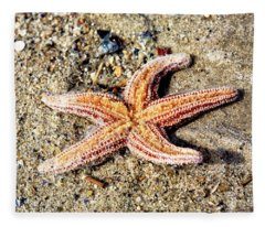 Cape May Starfish Fleece Blanket