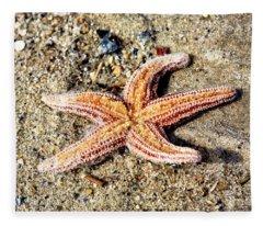 Cape May Starfish Fleece Blanket
