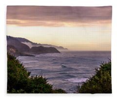 Cape Perpetua, Oregon Coast Fleece Blanket