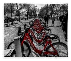 Capital Bikeshare Fleece Blanket