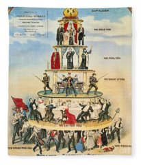 Capitalist Pyramid, 1911 - To License For Professional Use Visit Granger.com Fleece Blanket