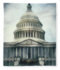 Capitol Building, Washington Fleece Blanket
