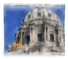 Capitol Dome St Paul Minnesota Fleece Blanket