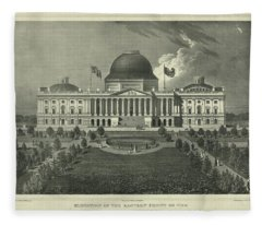 Capitol Of The Unites States Fleece Blanket