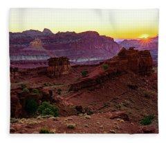 Capitol Reef Sunrise Fleece Blanket