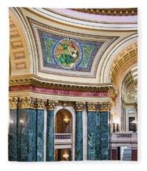 Capitol Rotunda -madison - Wisconsin Fleece Blanket