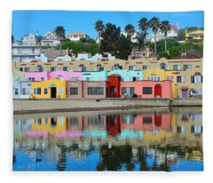 Capitola California Colorful Hotel Fleece Blanket