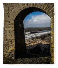Cappagh Pier And Ireland's Shannon Estuary Fleece Blanket