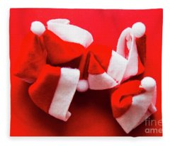 Capping Off A Merry Christmas Fleece Blanket