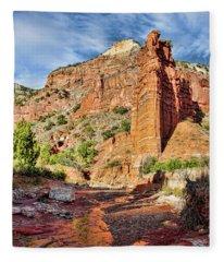 Caprock Canyon Cliff Fleece Blanket