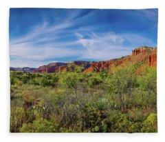 Caprock Canyon Panorama 2 Fleece Blanket