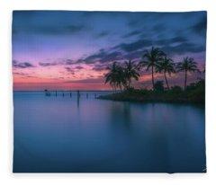 Captiva Sunset Fleece Blanket