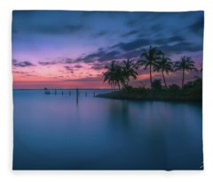 Captiva Sunset Fleece Blanket