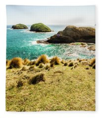Captivating Coastal Cliff Fleece Blanket
