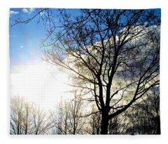 Capturing The Morning Sun Fleece Blanket