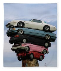 Car Pile Fleece Blanket