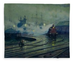 Cardiff Docks Fleece Blanket