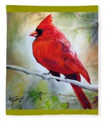 Cardinal 18 Fleece Blanket