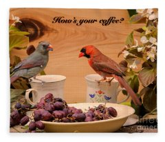 Cardinal Coffee Fleece Blanket