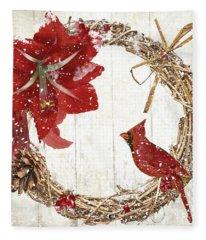 Cardinal Holiday II Fleece Blanket