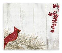 Cardinal Holiday IIi Fleece Blanket