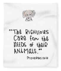 Care For Animals Fleece Blanket