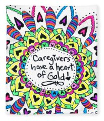 Caregiver Flower Fleece Blanket