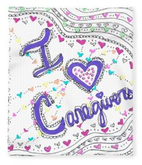Caring Heart Fleece Blanket