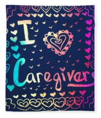 Caregiver Rainbow Fleece Blanket