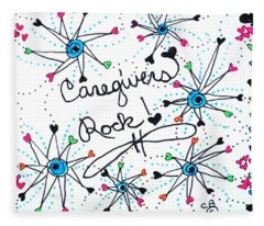 Caregivers Rock Fleece Blanket