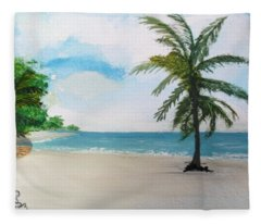 Caribbean Beach Fleece Blanket