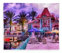 Caribbean Beach Resort Fleece Blanket