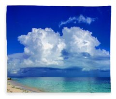 Caribbean Clouds Fleece Blanket