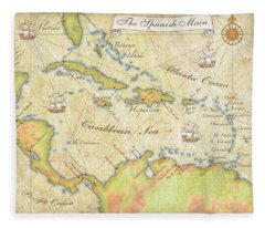 Caribbean Map - Good Fleece Blanket