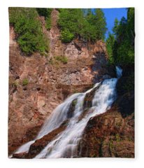 Caribou Falls Fleece Blanket