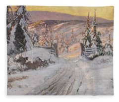 Carl Brandt   1871 930    Landscape Fleece Blanket