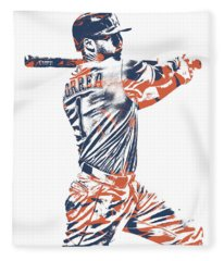 Carlos Correa Houston Astros Pixel Art 2 Fleece Blanket
