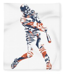 Carlos Correa Houston Astros Pixel Art 3 Fleece Blanket