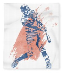 Carlos Correa Houston Astros Water Color Art 1 Fleece Blanket