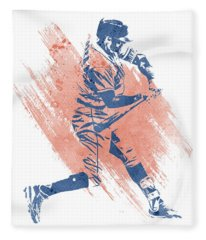 Carlos Correa Houston Astros Water Color Art 2 Fleece Blanket