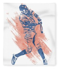 Carlos Correa Houston Astros Water Color Art 3 Fleece Blanket