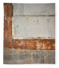 Carlton 14 - Abstract Concrete Wall Fleece Blanket