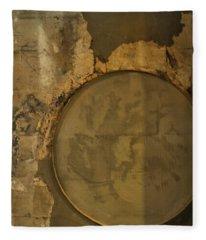 Carlton 3 - Abstract Concrete Fleece Blanket