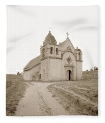 Carmel Mission South Side Circa 1915 Fleece Blanket