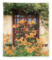 Carmel Mission Window Fleece Blanket