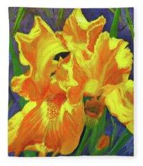 Carmen's Iris Fleece Blanket