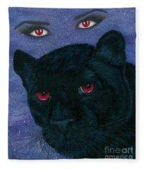 Carmilla - Black Panther Vampire Fleece Blanket