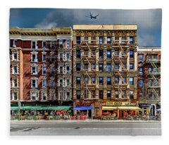 Carmine Street Fleece Blanket